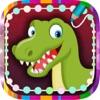 儿童画画游戏恐龙连线拼图涂色(3-6岁宝宝早教育儿软件学习数字)