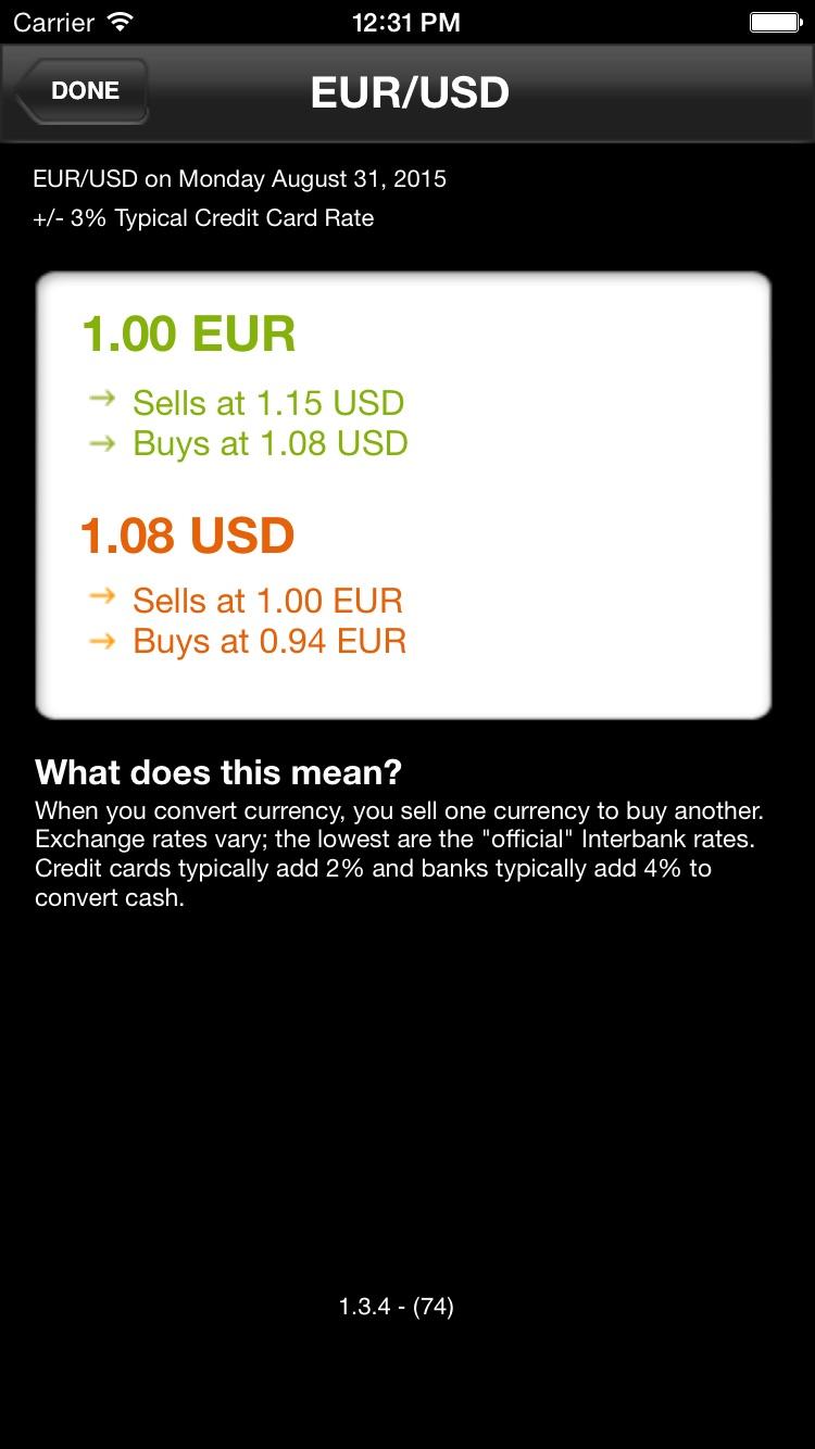 Currency Converter Screenshot