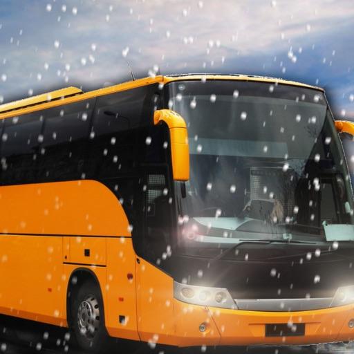 Зимний город бездорожья холм автобус симулятор вождения 3D