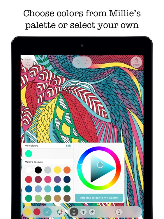Millie Marotta's Coloring Adventures screenshot-2