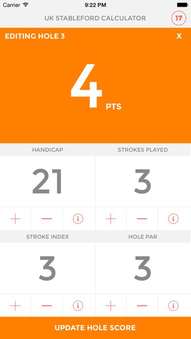 UK Stableford Calculator screenshot three