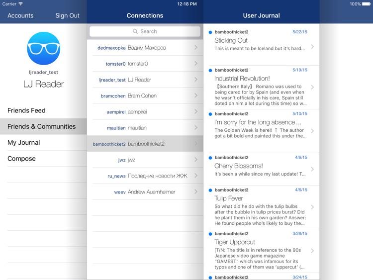 LJ Reader – LiveJournal iPad Edition screenshot-3