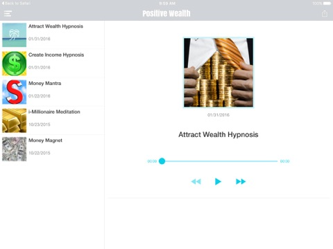 Positive Thought Hypnosis and Meditation for Wealth and Prosperity - AppRecs