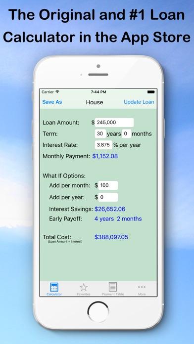 Loan Calculator — What If? screenshot one