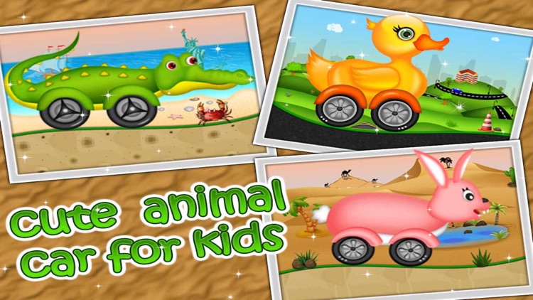 Kidzee - Animal Cars Racing Game for Kids screenshot-1
