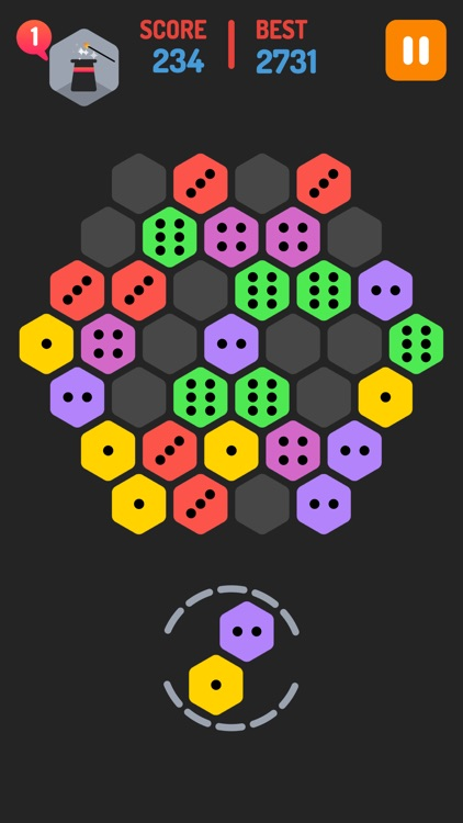 Merge Blocks - Merging hexagon puzzle fun game, rotate and merged screenshot-0