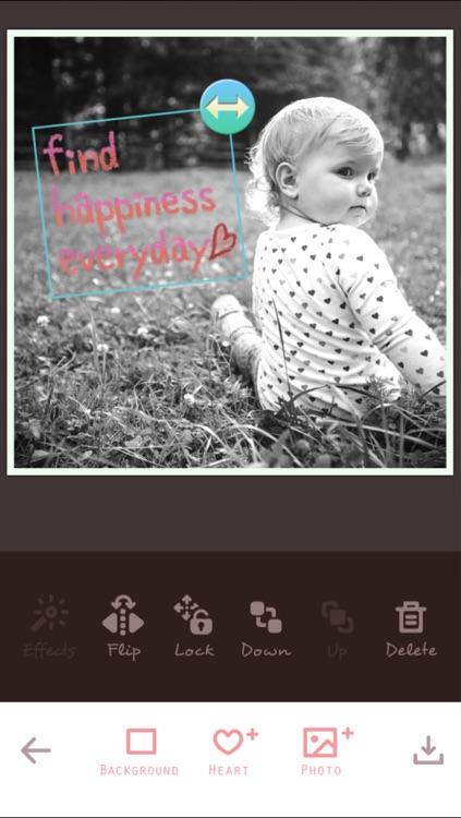 My Heart Camera - photo collage app - screenshot-3