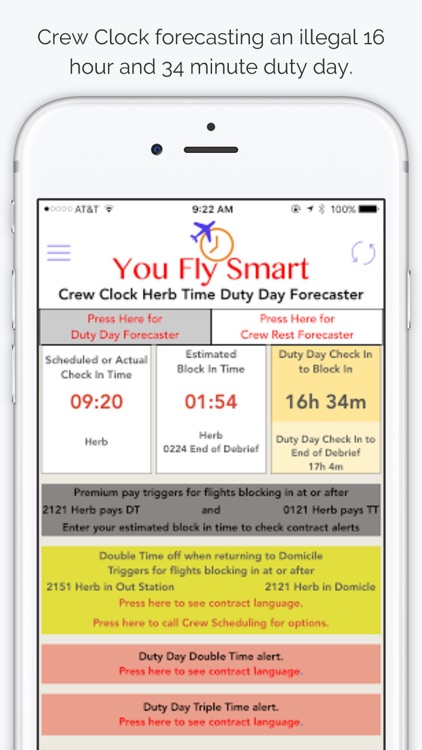 You Fly Smart with Crew Clock Herb Time screenshot-2