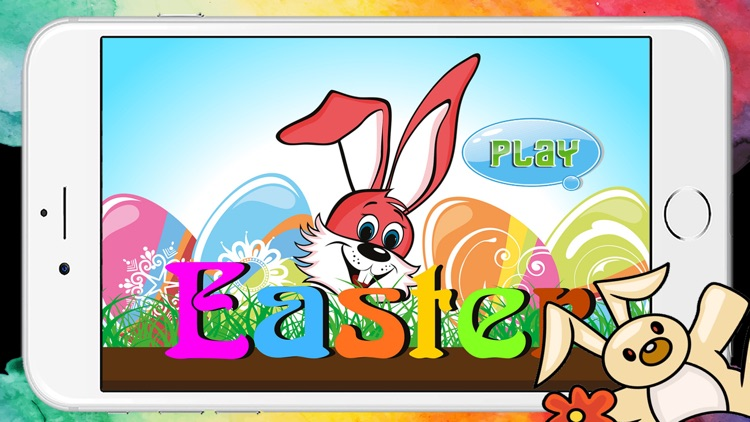 Easter Egg Kids Coloring Book Pages Game