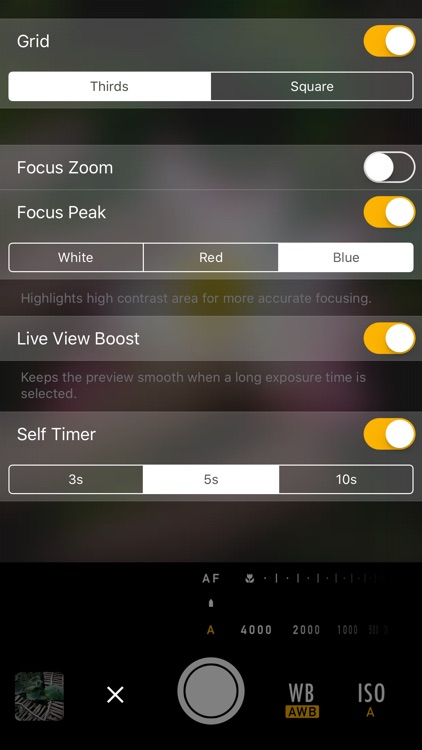 M Cam - Manual controls & custom exposure camera screenshot-4