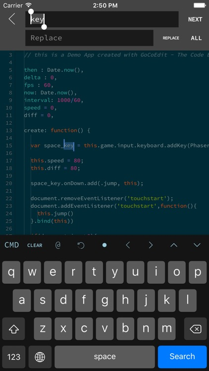 GoCoEdit - Code & Text Editor for DROPBOX FTP SFTP