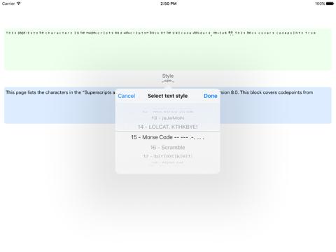Screenshot #5 pour Ʋиιтeϰт - Weird Text Generator