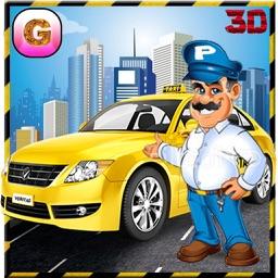 Crazy Taxi Driver Simulator 3D - real free yellow cab racing sim mania game