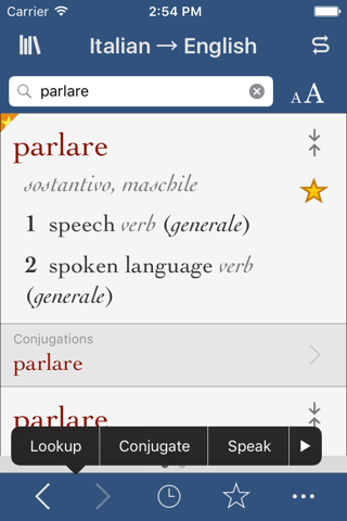 Italian-English Translation Dictionary and Verbs screenshot 1