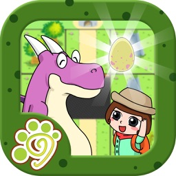 Belle save the dinosaur egg (Happy Box) Free puzzle game for kids