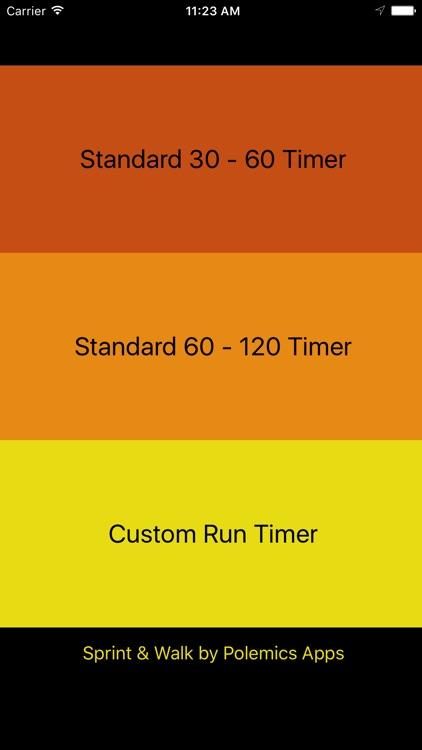 Sprint Timer for Interval Running