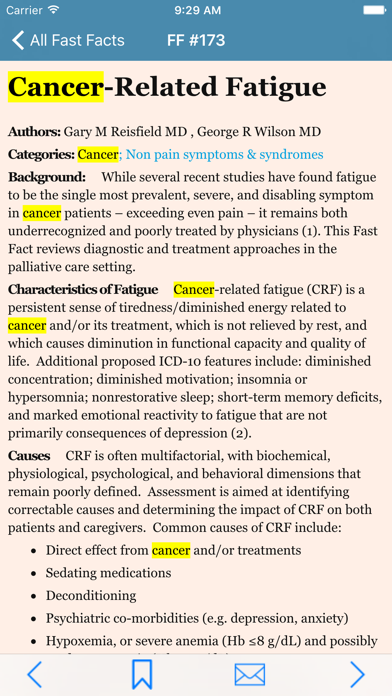 Palliative Care Fast Facts