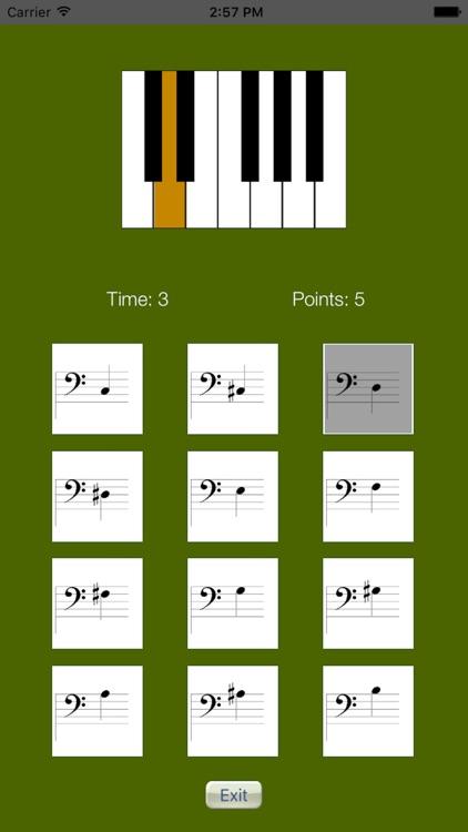 Sheet Music Trainer Piano Bass