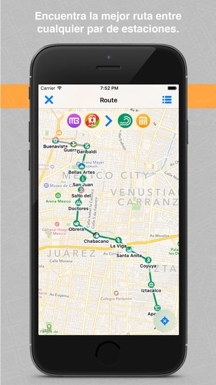 Rutas DF Metro, Metrobús, Tren Ligero, Suburbano, Mexibús, Trolebús y Ecobús de la Ciudad y Estado de México screenshot-3