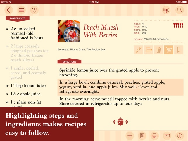 The recipe box your kitchen your recipes on the app store ipad screenshots forumfinder Choice Image