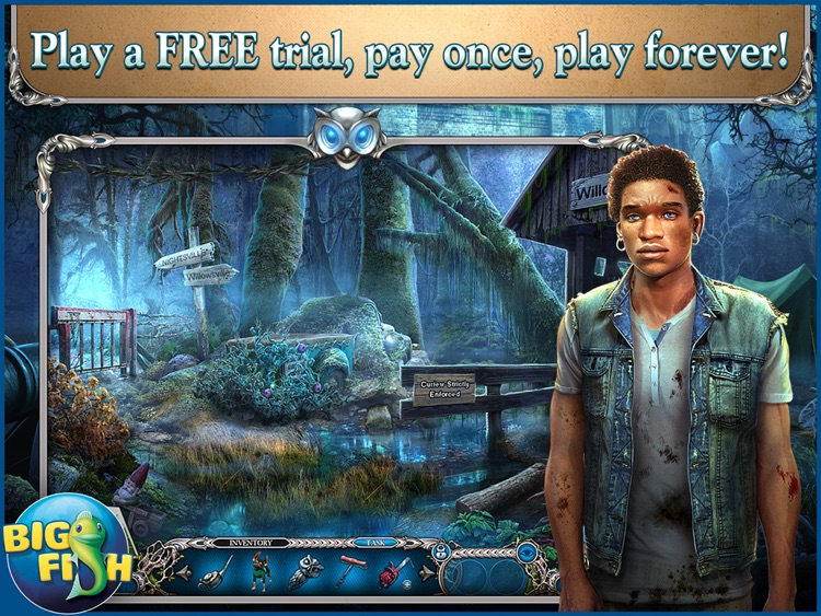 Mystery Trackers: Nightsville Horror HD - A Hidden Object Adventure screenshot-0