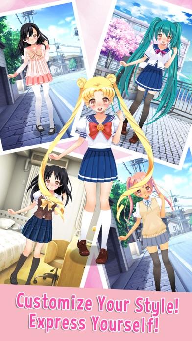 学校のかわいい女の子 - アニメ風な少女の着せ替えゲームスクリーンショット2