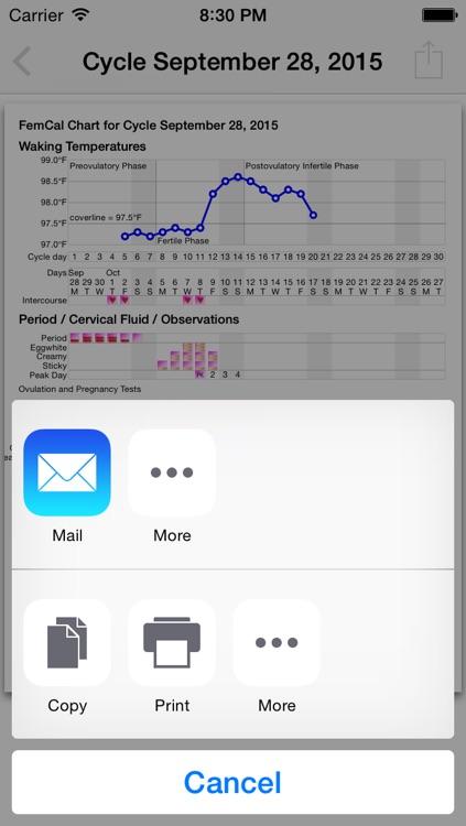 FemCal: Period and Ovulation Calendar screenshot-3