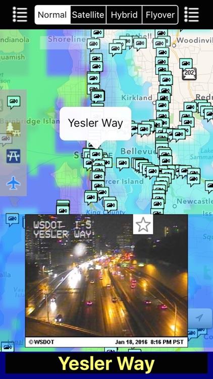 Washington NOAA Radar with Traffic Cameras 3D Pro