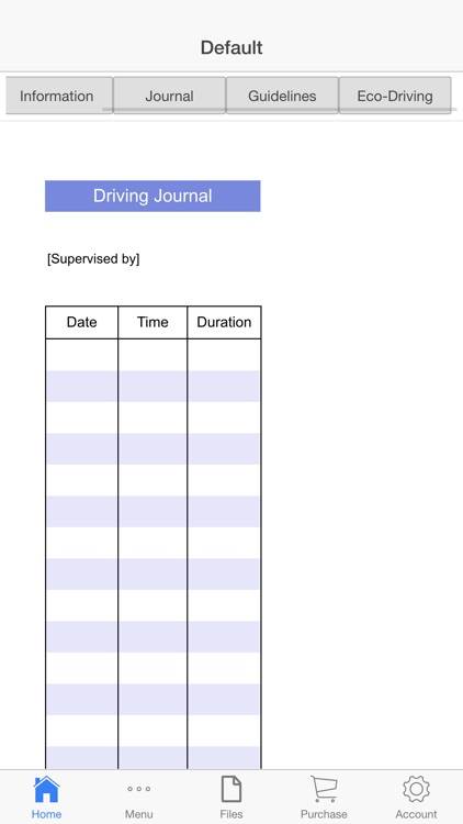 Driving Log Book