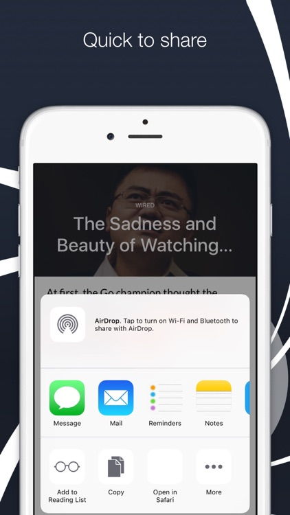 "Newspot - Your Wonderful News & RSS Feed Reader ""for Apple Watch and iPhone"" screenshot-4"