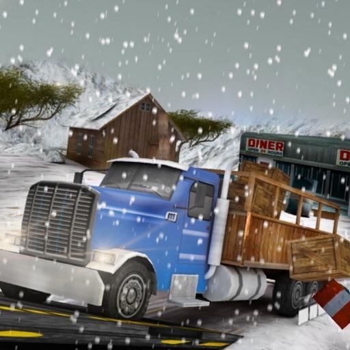 зима водитель грузовика шоссе пик 3D симулятор