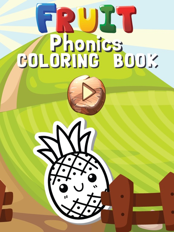 Screenshot 1 For Fruits And Vegetables Phonics Coloring Book English Vocabulary Learning Free