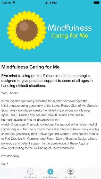 Mindfulness Caring for Me screenshot three