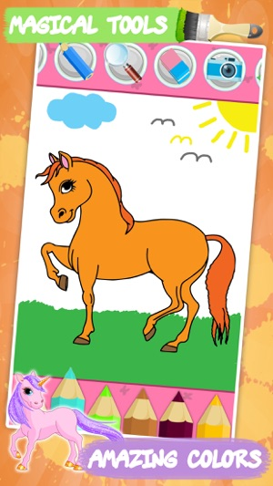 Horses coloring book for kids on the App Store
