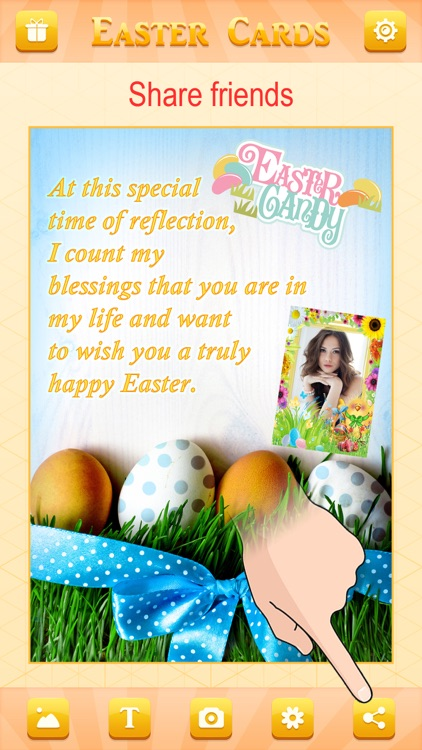 Happy Easter Greeting Card.s Maker - Collage Photo & Send Wishes with Cute Bunny Egg Sticker screenshot-4