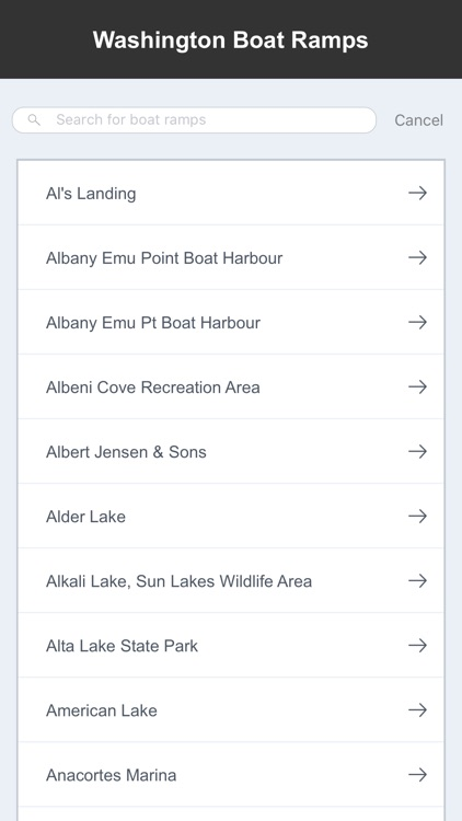 Washington Boat Ramps & Fishing Ramps screenshot-1