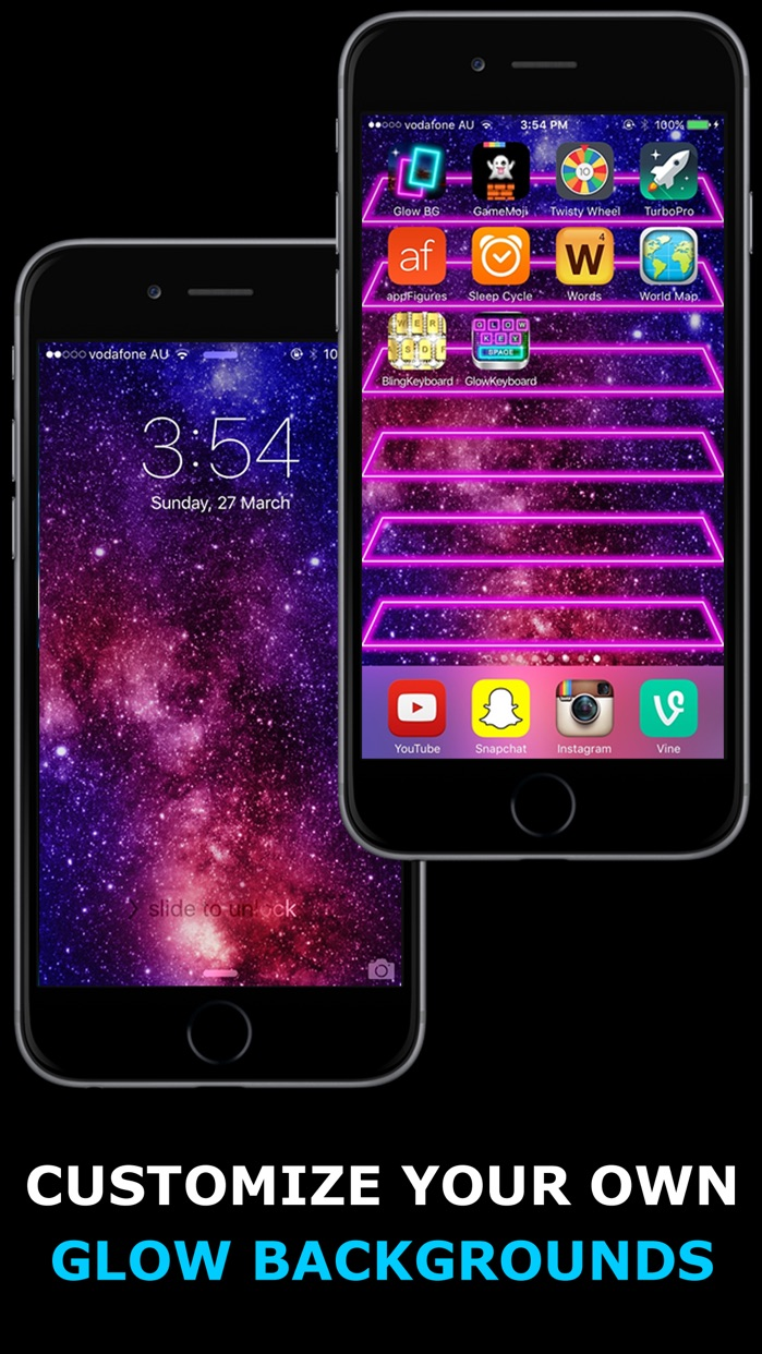 Glow Backgrounds Screenshot