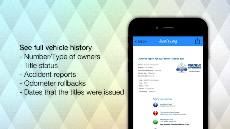 AutoFax - vehicle history reports (VIN check) for used cars