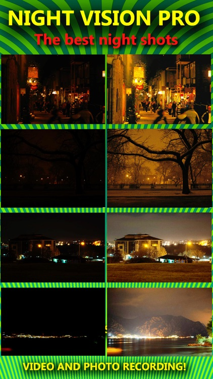 Night Vision True HDR - See In The Dark (NightVision Real In Low Light Mode) Green Goggles Binoculars with Camera Zoom Magnify (Video, Photo) and Private / Secret Folder Pro