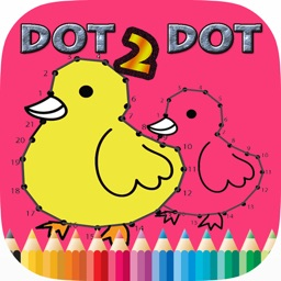 Dot to Dot Coloring Book Brain Learning  - Free Games For Kids