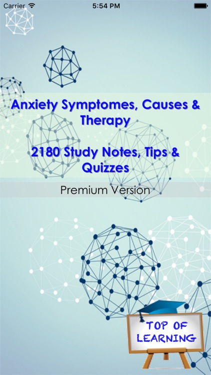 Anxiety Types, Symptomes & Medication: 2000 notes & quiz screenshot-0