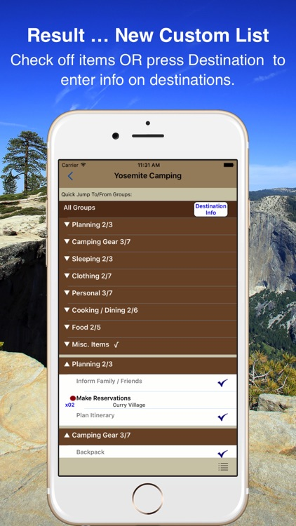 Camp & Hike Checklist
