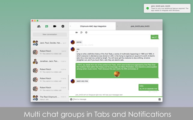 Chatty for Google Hangouts on the Mac App Store