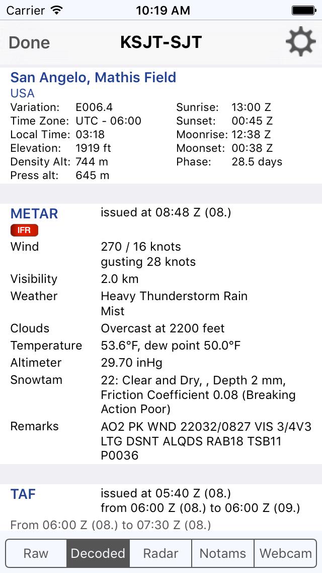 Sky MET - Aviation Meteoのおすすめ画像2