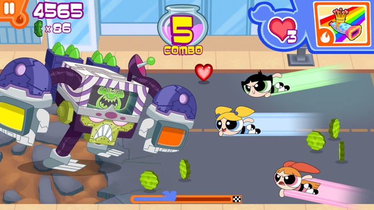 Flipped Out – The Powerpuff Girls Match 3 Puzzle / Fighting Action Game