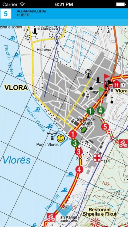 Vlora. Tourist map. screenshot-3