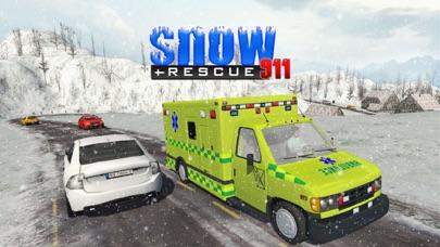 スノーレスキュー911 - 緊急救急車運転シミュレータのおすすめ画像1