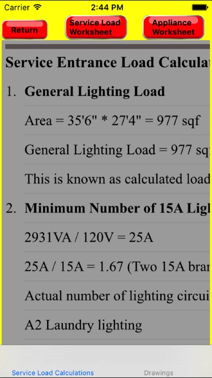 Electrical Load Calculator & Electrical Plan Example by Yuhsiu Lai