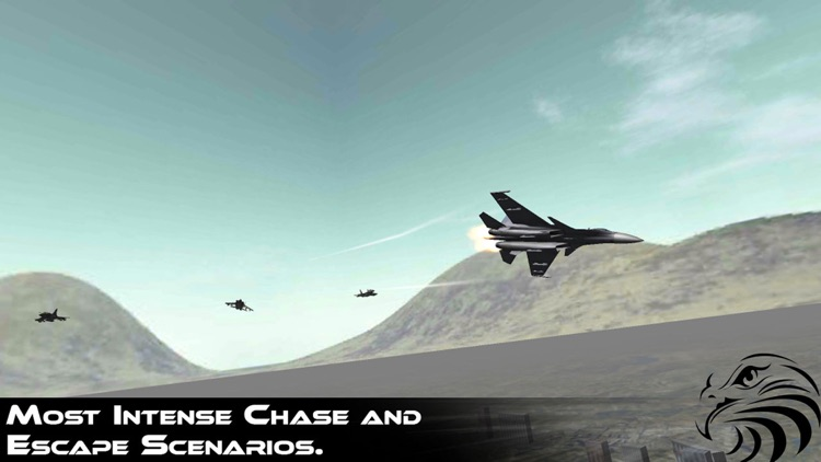 Jet Fighter Dogfight Chase - Hybrid Flight Simulation and Action game 2016 screenshot-3