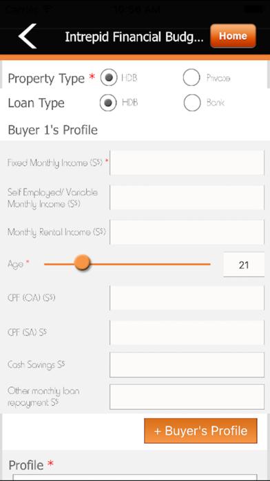 Intrepid Financial Budget Calculator screenshot one